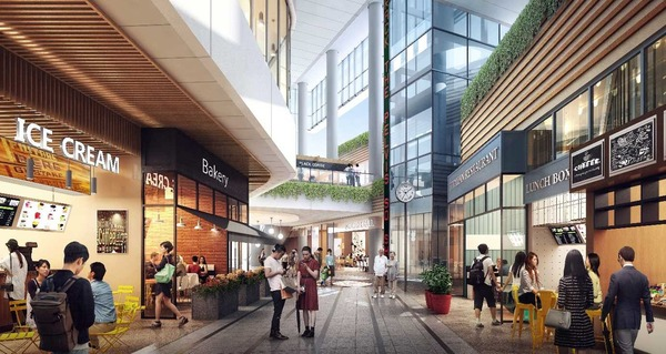 大宮駅西口第3-A・D地区第一種市街地再開発事業 1F 商業通路イメージ(まちなかガレリア)