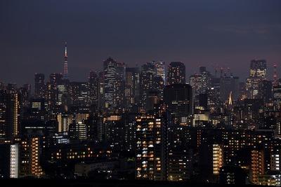 東京タワー方面の夜景