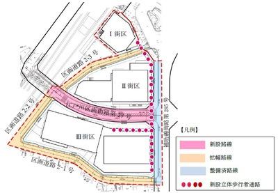 南小岩六丁目地区第一種市街地再開発事業 配置図
