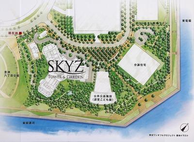 東京ワンダフルプロジェクト 配置図