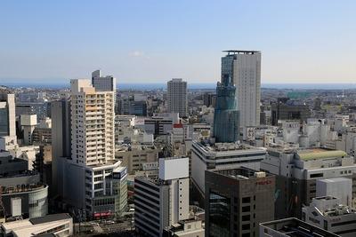 静岡県庁から見た静岡駅方面