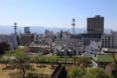 舞鶴城公園から見た甲府市街