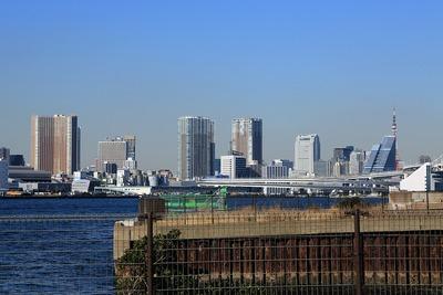 芝浦方面と東京タワー