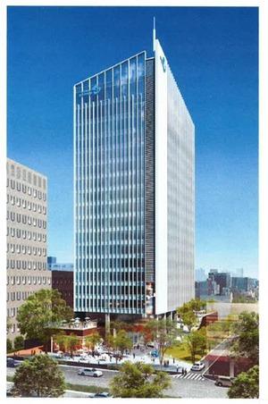 (仮称)南青山3丁目プロジェクトの完成予想図
