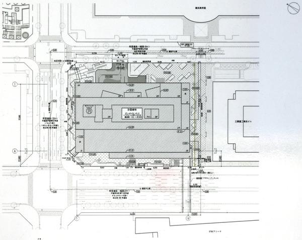 (仮称)MM37タワー 都市景観形成行為のお知らせ 配置図