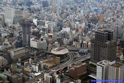 なんば・心斎橋・堀江方面の空撮