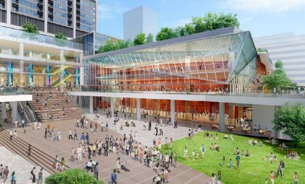 中野駅新北口駅前エリア拠点施設整備事業 集いの広場完成予想パース