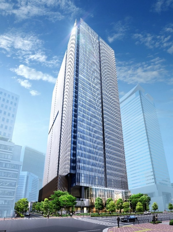 虎ノ門二丁目地区第一種市街地再開発事業 業務棟 外観イメージパース
