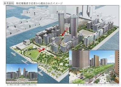 晴海五丁目西地区 2020東京五輪選手村 完成予想図