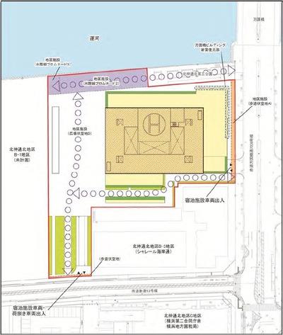 アパホテル&リゾート〈横浜ベイタワー〉新築工事の配置図