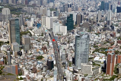THE ROPPONGI TOKYOあたりの空撮