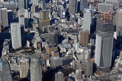 虎ノ門・赤坂方面の空撮