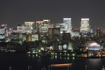 フジテレビから東京駅方面の夜景