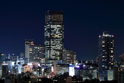 パークコート麻布十番ザ タワーから見た東京ミッドタウン方面
