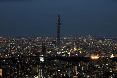 サンシャイン60から見た東京スカイツリーの夜景