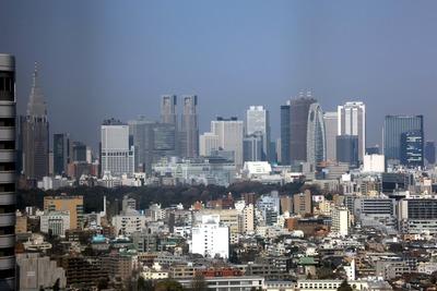 赤プリ36階から新宿方面の眺め