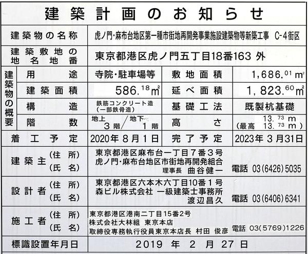 虎ノ門・麻布台プロジェクト C-4街区 建築計画のお知らせ