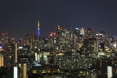 船堀から東京タワー方面の夜景