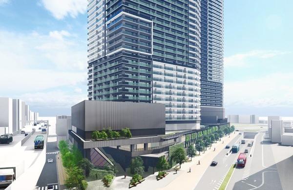 南池袋二丁目C地区第一種市街地再開発事業 北側から見たイメージ