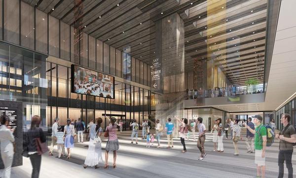川崎市新本庁舎整備事業 アトリウムイメージ