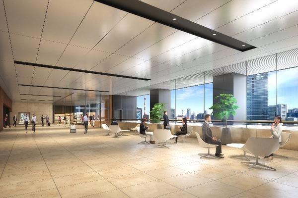虎ノ門二丁目地区第一種市街地再開発事業 業務棟 22階スカイロビーイメージパース