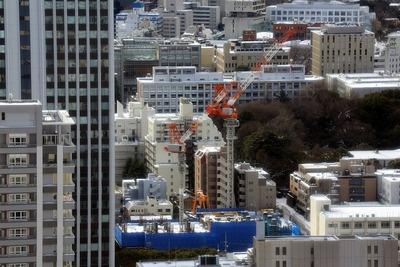 東京タワーから見たザ・レジデンス三田