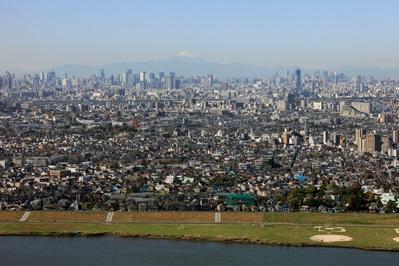 市川市アイ・リンクタウン展望室から富士山