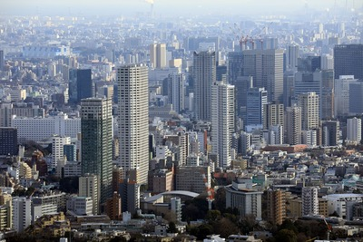 白金・高輪・大崎方面の超高層ビル群