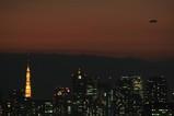 東京夜景と飛行船