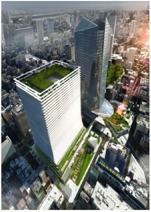 虎ノ門駅南地区地区計画 A-1街区 イメージパース