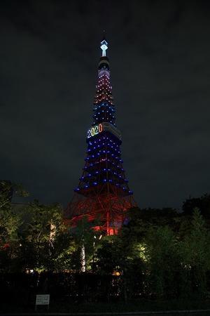 東京五輪開催記念特別ライトアップ 東京タワー