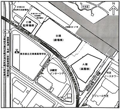 (仮称)竹芝ウォーターフロント開発計画 配置図