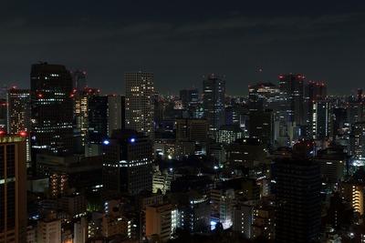 東京タワーから虎ノ門方面の夜景