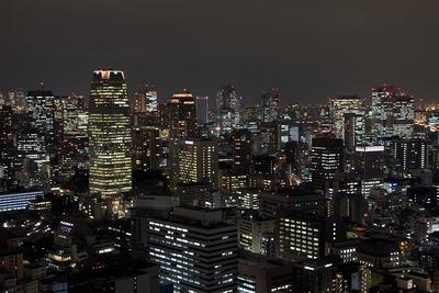 世界貿易センタービルから見た愛宕・虎ノ門・霞ヶ関方面の夜景