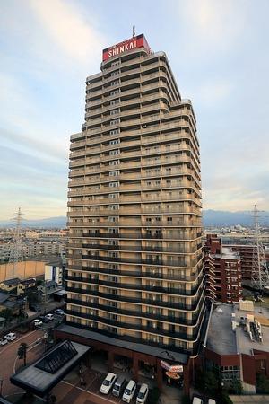 アパホテル富山から見た信開アーバンシティセントラル