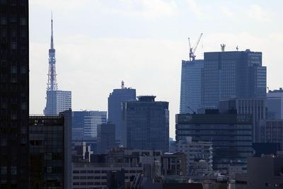 神楽坂アインスタワーから見た東京タワー