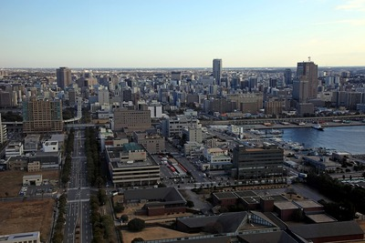 千葉ポートタワーから見た千葉市街