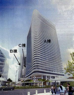 豊洲二丁目駅前地区の完成予想図