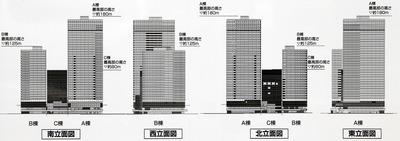 (仮称)豊洲二丁目駅前地区第一種市街地再開発事業 2-1街区 外観図