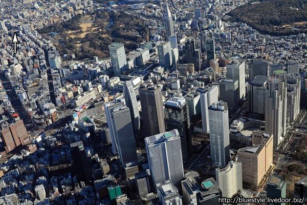 (仮称)新宿区四谷4丁目計画 建設地の空撮