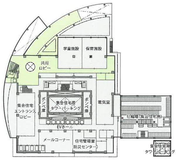 もと淀川区役所跡地等活用事業 3階平面図