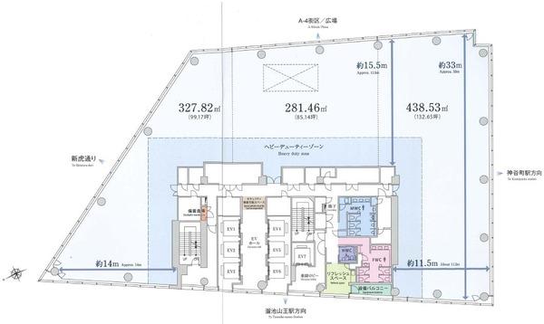 T-LITE(トライト) 基準階平面図