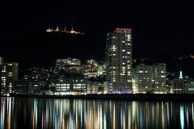 タワーシティ長崎方面の夜景
