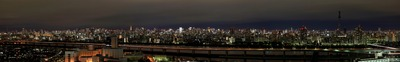 江戸川区のタワーマンションから見る東京パノラマ夜景