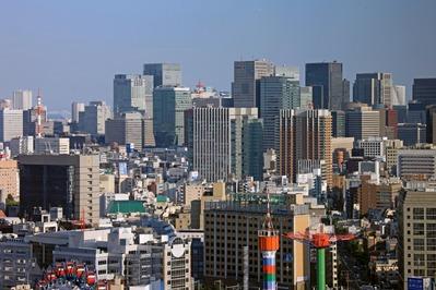 文京シビックセンターから大手町の超高層ビル群