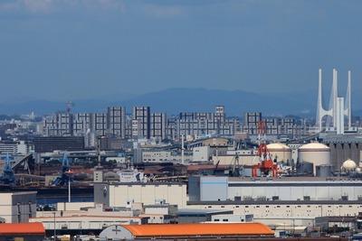 神戸ポートタワーから見た芦屋浜シーサイドタウン