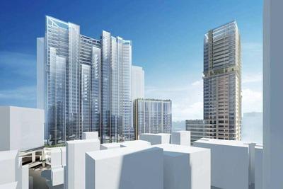 渋谷駅桜丘口地区再開発計画の完成予想図