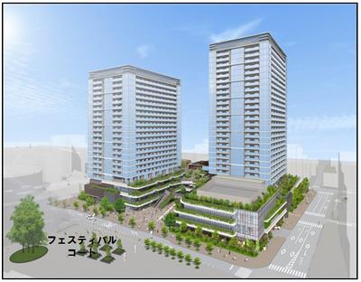 武蔵小金井駅南口第2地区市街地再開発事業 完成予想図