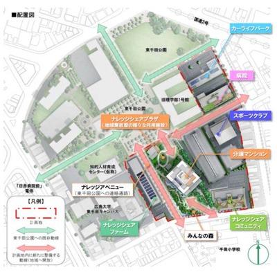 「広島ナレッジシェアパーク」の配置図