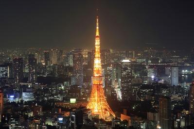 東京タワーの通常ライトアップ